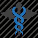 caduceus, healthcare, medical, pharmacy icon