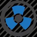 radiation, radioactive, sign, toxic icon