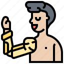arm, artificial, bionic, disable, limb icon