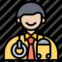 device, doctor, hospital, medical, stethoscope icon