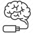 brain, innovation, medical, memory, storage, technology icon