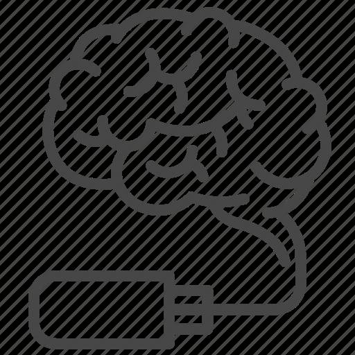 brain, innovation, medical, memory, storage, technology icon