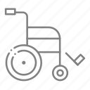 handicapped, health, hospital, injury, medical, physician, weelchair icon