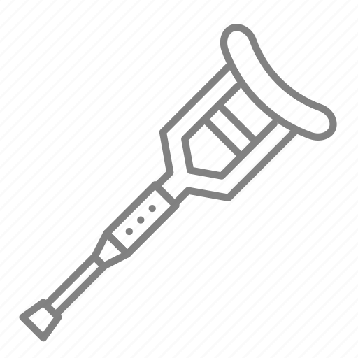 crutches, doctor, health, hospital, injury, medical, physician icon