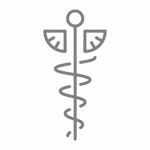 caduceus, doctor, health, hospital, medical, medical staff, physician icon