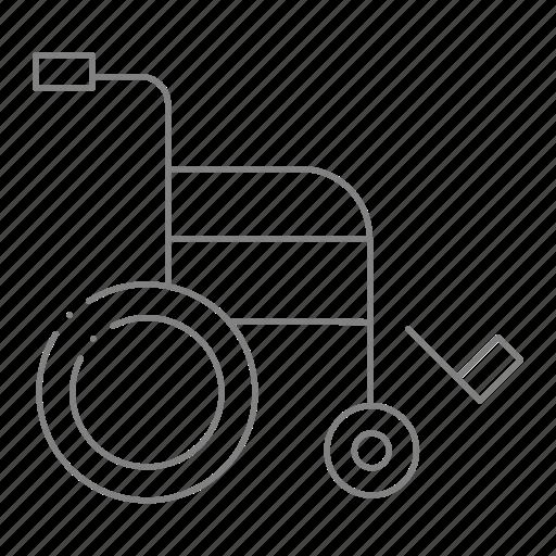 doctor, health, hospital, medical, physician, rehab, wheelchair icon
