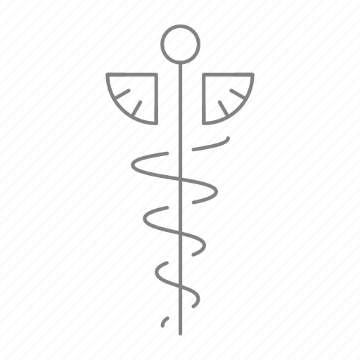 Caduceus, doctor, health, hospital, medical, medical staff, physician icon - Download on Iconfinder