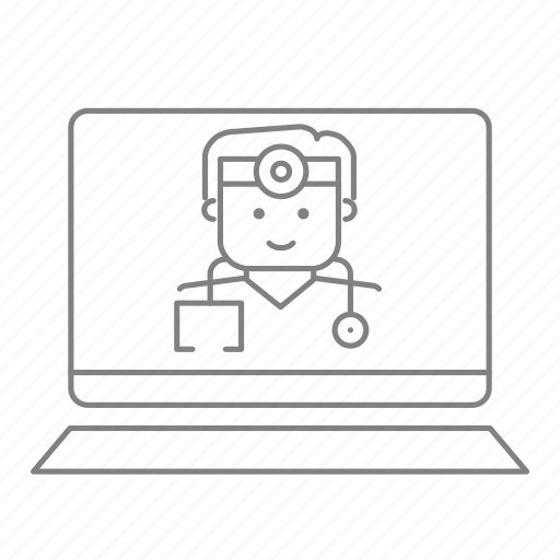 doctor, health, health care, hospital, medical, physician, primary care laptop icon