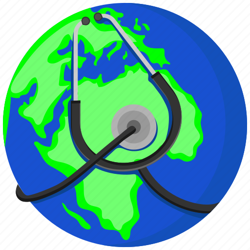 global, global health, global healthcare, healthcare, medical, medicine, stethoscope icon