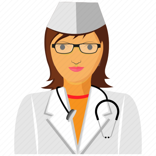 doctor, gyane, lady, medical, physician, practitioner, surgeon icon