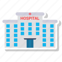 architecture, building, hospital, medical icon