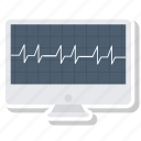 analytics, diagram, ecg, ekg, medicine, monitor, pulse icon
