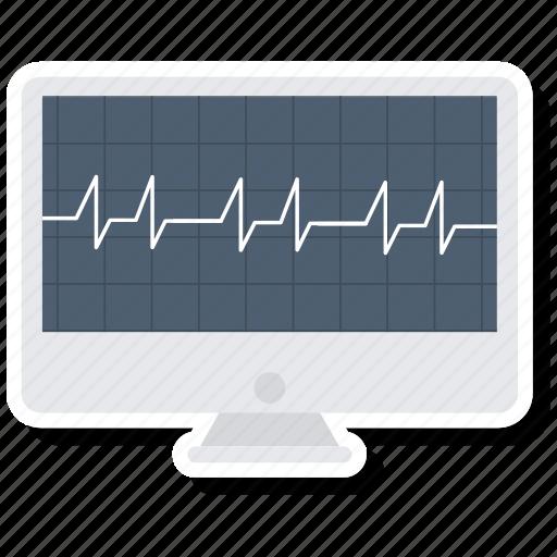 analytics, diagram, ecg, ekg, medicine, monitor, pulse icon
