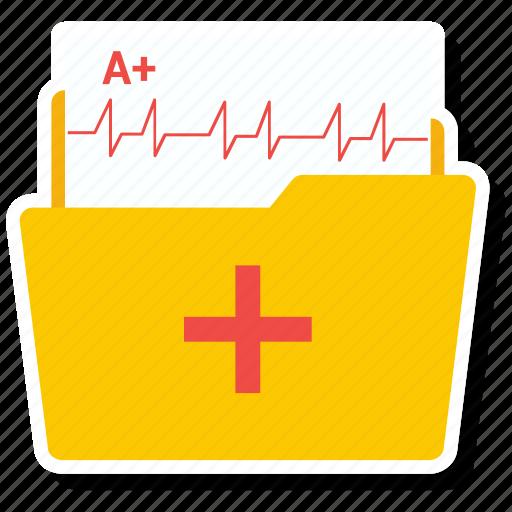 folder, healthcare, hospital, medical icon