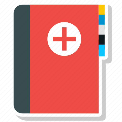 book, health, healthcare, medical icon