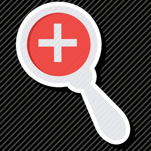healthcare, medical, medicine, search icon
