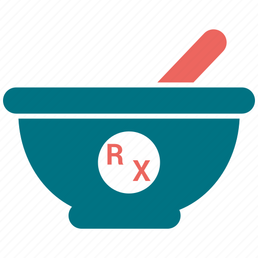 mortar, pestle, pharmacy icon