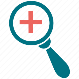 magnifier, medical, search, zoom icon