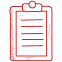 clipboard, file, medical, notepad icon