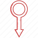 gender, male, mars icon