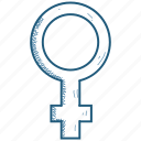 female, gender, venus icon