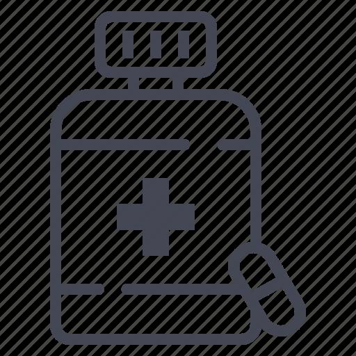 bottle, capsule, pharmacy, pills icon