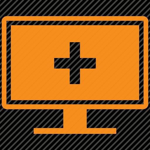 computer, medical, monitor, pc icon