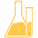 chemistry, experiment, flask, lab, laboratory, science, tube icon