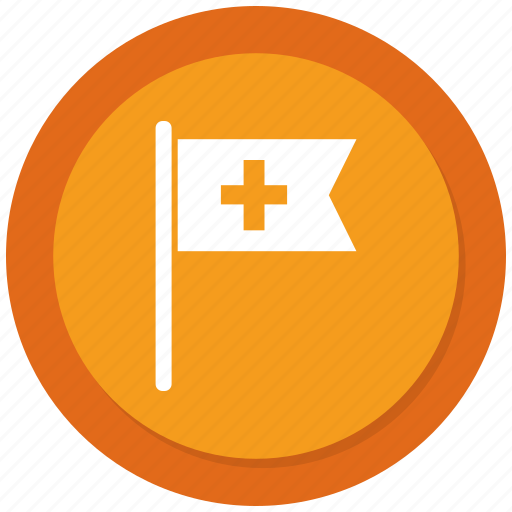 assistance, flag, medical, medical flag icon