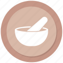 medicine, mortar, pestle, pharmacy icon