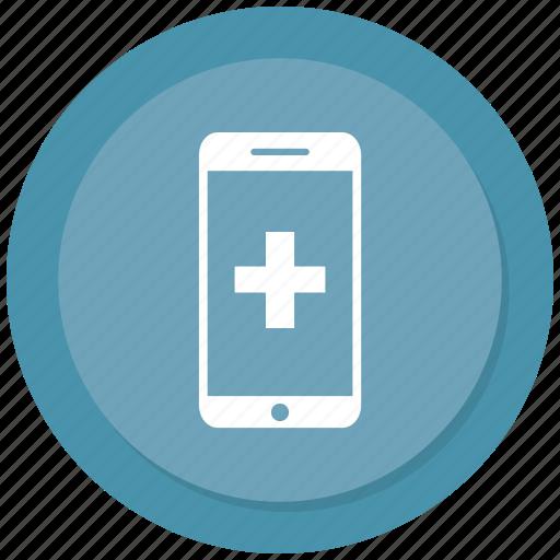 medical, mobile, online medical icon
