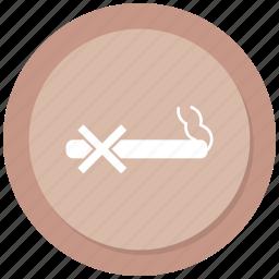 cigarrette, no, sign, smoking icon