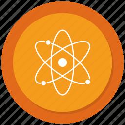 atom, molecule, outline, physics icon