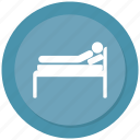 hospital bed, hospital stretcher, patient bed icon
