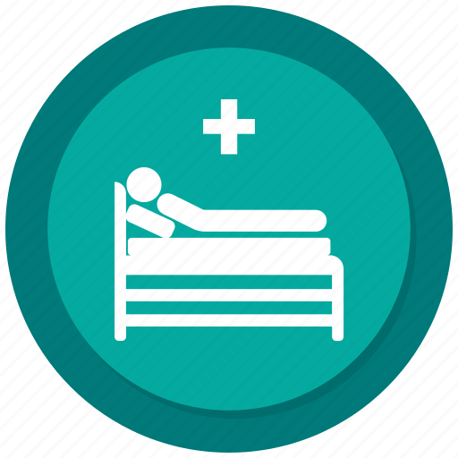bed, disabled, hospital bed, patient icon