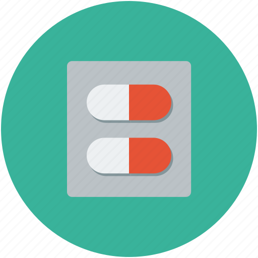 capsules, drug, medicine, pill icon