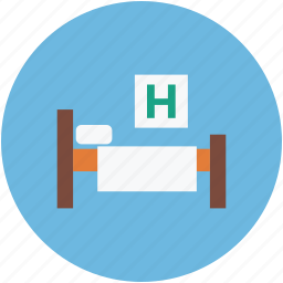 healthcare, hospital, patient bed, patients room icon