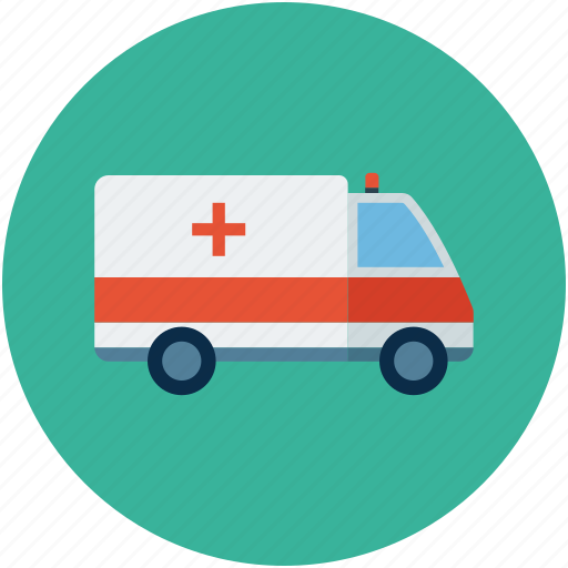 ambulance, emt, medical aid, medical transport icon