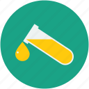 test tube, blood drop, blood test, laboratory