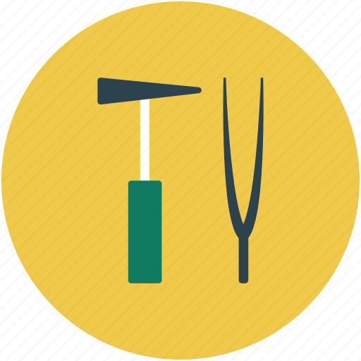 hammer, medical instruments, reflex hammer, surgical tools icon
