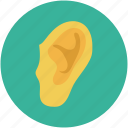 ear, human ear, listen, sound icon