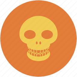 dead, death, human skull, skull icon