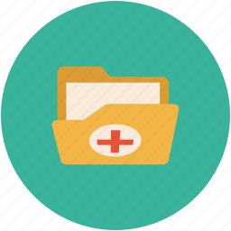 folder, medical, medical documents, medical folder icon