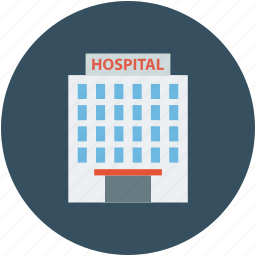 building, hospital, hospital building, medical center icon