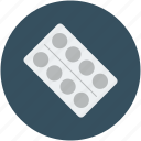 drug, medication, pills strip, strip of medication icon
