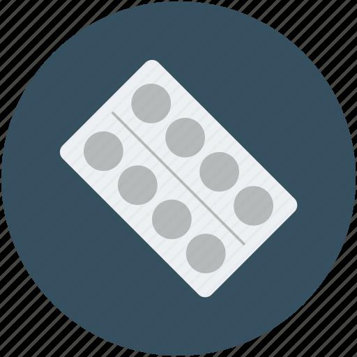 drug, medication, pills strip, strip of medication icon