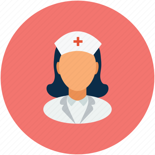 female nurse, healthcare, medical assistant, nurse icon