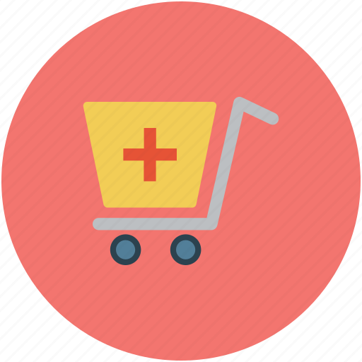 cart, medical, medical cart, pharmacy supplies icon