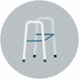 crutches, disability, disabled walker, walking frames icon