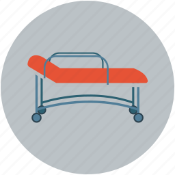bed, hospital, patient, stretcher icon